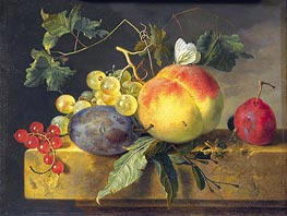 Jan van Huysum | Still Life with Fruit and Butterfly, c.1735 | Giclée Canvas Print