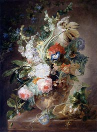 Vase with Flowers, undated by Jan van Huysum | Giclée Canvas Print