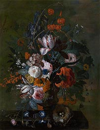 Bouquet of Flowers, b.1716 by Jan van Huysum | Giclée Canvas Print