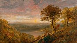 Greenwood Lake, 1870 by Jasper Francis Cropsey | Giclée Canvas Print
