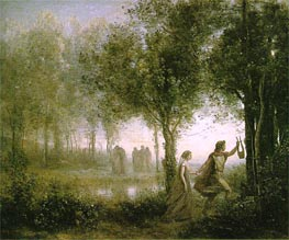 Corot | Orpheus Leading Eurydice from the Underworld, 1861 | Giclée Canvas Print