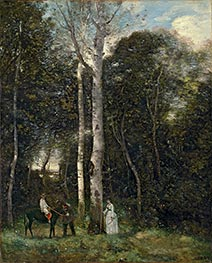 The Parc des Lions at Port-Marly, 1872 by Corot | Giclée Canvas Print
