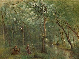 The Eel Gatherers, c.1860/65 by Corot   Giclée Canvas Print