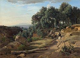 A View near Volterra, 1838 by Corot   Giclée Canvas Print