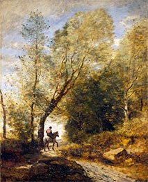 The Forest of Coubron, 1872 by Corot   Giclée Canvas Print