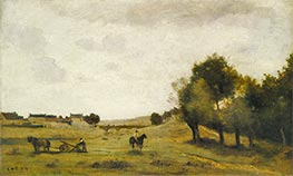 View near Epernon, c.1850/60 by Corot | Giclée Canvas Print