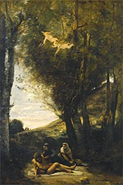Saint Sebastian Succored by the Holy Women, 1874 by Corot | Giclée Canvas Print