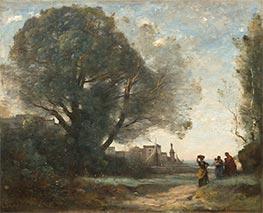 Souvenir of Terracina, 1864 by Corot | Giclée Canvas Print