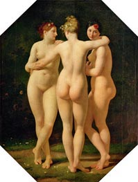 The Three Graces, 1793 by Baron Jean Baptiste Regnault | Giclée Canvas Print