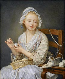 Jean-Baptiste Greuze | The Wool Winder, c.1759 | Giclée Canvas Print