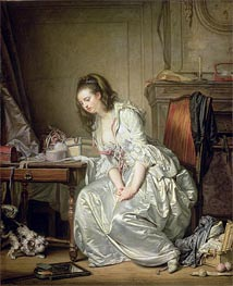 Jean-Baptiste Greuze | The Broken Mirror, c.1762/63 | Giclée Canvas Print