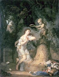 Jean-Baptiste Greuze | Votive Offering to Cupid, 1767 | Giclée Canvas Print