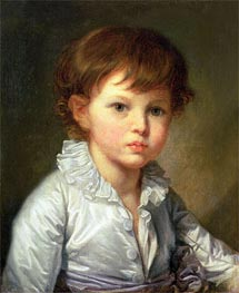 Jean-Baptiste Greuze | Portrait of Count Pavel Stroganov as A Child, 1778 | Giclée Canvas Print