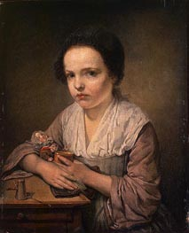 Jean-Baptiste Greuze | Girl with a Doll, c.1750 | Giclée Canvas Print
