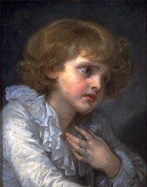 Jean-Baptiste Greuze | Head of a Young Boy (Tete d'un Garcon), undated | Giclée Canvas Print