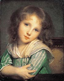 Jean-Baptiste Greuze | Girl at the Window, undated | Giclée Canvas Print
