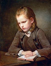 Jean-Baptiste Greuze | A Boy with a Lesson Book, 1757 | Giclée Canvas Print