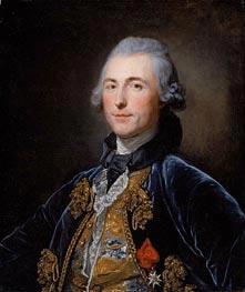 Jean-Baptiste Greuze | Portrait of Chevalier de Damery | Giclée Canvas Print