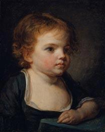Jean-Baptiste Greuze | Portrait of a Child | Giclée Canvas Print