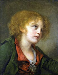 Jean-Baptiste Greuze | Portrait of a Young Boy | Giclée Canvas Print