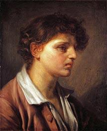 Jean-Baptiste Greuze | Portrait of a Young Man, undated | Giclée Canvas Print
