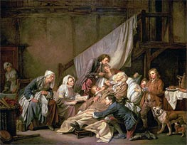 Jean-Baptiste Greuze | The Paralytic (Filial Piety), 1763 | Giclée Canvas Print