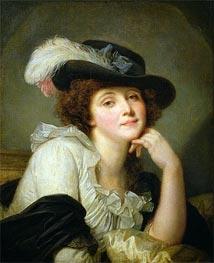 Jean-Baptiste Greuze   Portrait of Sophie Arnould   Giclée Canvas Print