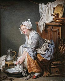 Jean-Baptiste Greuze | The Laundress, 1761 | Giclée Canvas Print