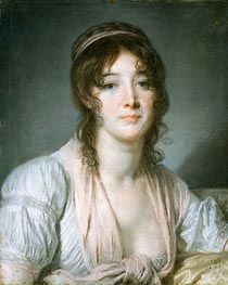 Jean-Baptiste Greuze | Portrait of Madame Baptiste Aine | Giclée Canvas Print