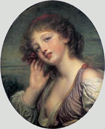 Jean-Baptiste Greuze | The Listening Girl, c.1780/90 | Giclée Canvas Print