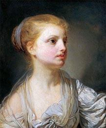 Jean-Baptiste Greuze   Girl in a White Dress   Giclée Canvas Print