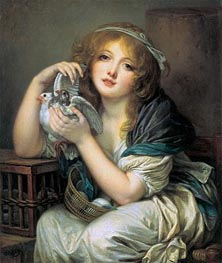 Jean-Baptiste Greuze | Girl with Doves, c.1799/00 | Giclée Canvas Print