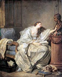 Jean-Baptiste Greuze | The Inconsolable Widow, c.1762/63 | Giclée Canvas Print