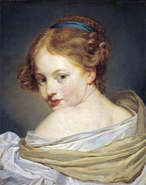 Jean-Baptiste Greuze | Portrait of a Young Woman, undated | Giclée Canvas Print