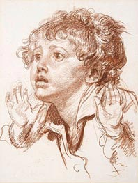 Jean-Baptiste Greuze | Head of a Startled Boy, undated | Giclée Paper Print