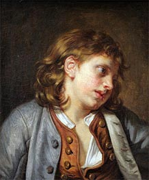 Jean-Baptiste Greuze | A Young Peasant Boy, undated | Giclée Canvas Print