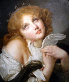 Jean-Baptiste Greuze | Voluptuousness (Girl with Dove), 1790 | Giclée Canvas Print