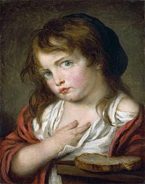 Jean-Baptiste Greuze | Little Girl Pouting, c.1775/00 | Giclée Canvas Print