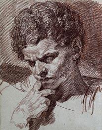 Jean-Baptiste Greuze | Head of Caracalla, c.1768 | Giclée Paper Print