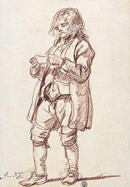 Jean-Baptiste Greuze | Study for 'The Paralytic'. Study of a Boy Carrying a Cup, c.1760 | Giclée Paper Print