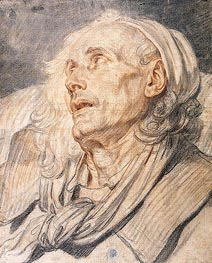 Jean-Baptiste Greuze | Study for 'The Paralytic'. Head of an Old Man, c.1760 | Giclée Paper Print