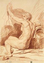 Jean-Baptiste Greuze | Study of a Nymph, b.1755 | Giclée Paper Print