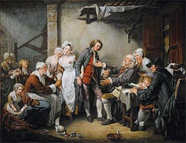 Jean-Baptiste Greuze | The Village Agreement, 1761 | Giclée Canvas Print