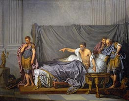 Jean-Baptiste Greuze | The Emperor Severus Rebuking his Son, Caracalla, for Wanting to Assassinate Him | Giclée Paper Print
