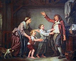 Jean-Baptiste Greuze | The Drunken Cobbler, c.1780/85 | Giclée Canvas Print