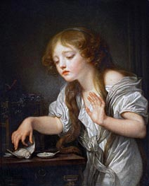 Jean-Baptiste Greuze | The Dead Bird | Giclée Canvas Print