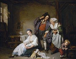 Jean-Baptiste Greuze | Broken Eggs | Giclée Canvas Print
