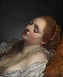 The Dreamer, c.1765/69 by Jean-Baptiste Greuze | Giclée Canvas Print