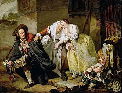 Le Geste Napolitain, 1757 | Jean-Baptiste Greuze | Painting Reproduction