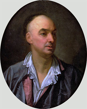 Portrait of Denis Diderot, undated | Jean-Baptiste Greuze | Painting Reproduction